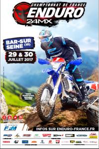 Affiche ffm enduro 2017 40x60 bar sur seine