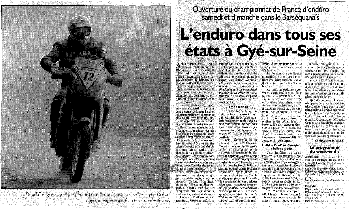 Annonce ee enduro 2006