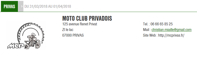 Moto club privadois 2018