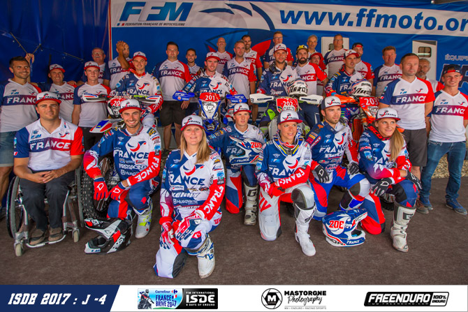 Team et staff france isde 2017